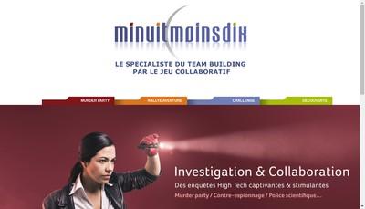 Site internet de Minuit Moins Dix