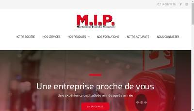 Site internet de Mip Maintenance Incendie Protection