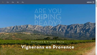 Site internet de Made In Provence