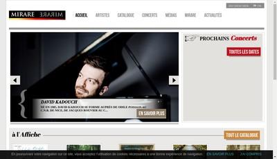 Site internet de SARL Mirare Productions