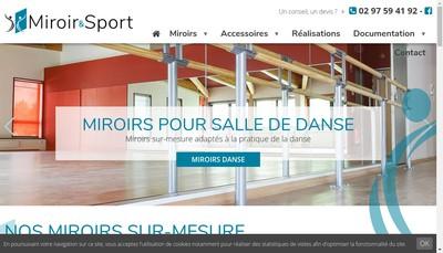 Site internet de Miroir & Sport SARL
