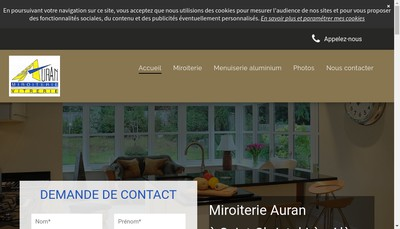Site internet de Miroiterie Auran