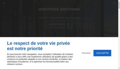 Site internet de Miroiterie Bretonne