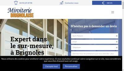 Site internet de Miroiterie Brignolaise