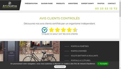 Site internet de Miroiterie de Chauny