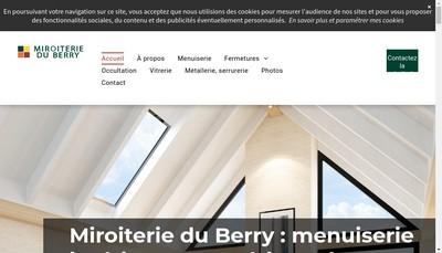 Site internet de Miroiterie du Berry