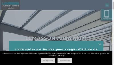Site internet de Lemasson Aluminium Miroiterie