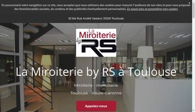 Site internet de SAS la Miroiterie By Rs