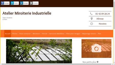 Site internet de Atelier de Miroiterie Industrielle