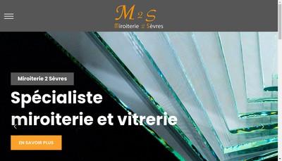 Site internet de SARL Miroiterie 2 Sevres