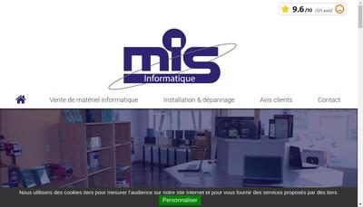 Site internet de Mis Informatique