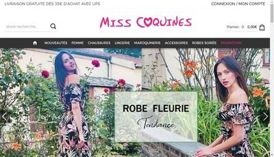 Site internet de Miss Coquines