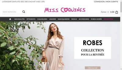 Site internet de Miss Coquine