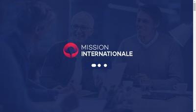 Site internet de Mission Internationale