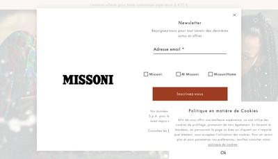 Site internet de Missoni