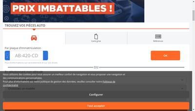 Site internet de Mister Auto