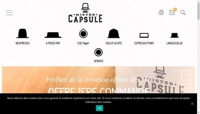 Site internet de Mister Capsule