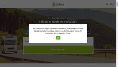 Site internet de Mistral Camping Cars