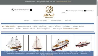 Site internet de Mistral Maquettes