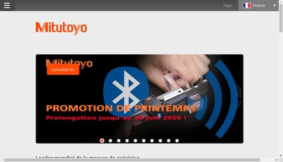 Site internet de Mitutoyo France
