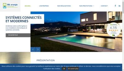 Site internet de Mk Energie