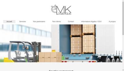 Site internet de Mk Logistique