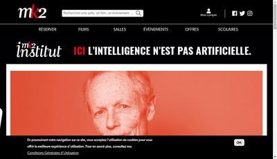 Site internet de Mk2 Quai de Seine