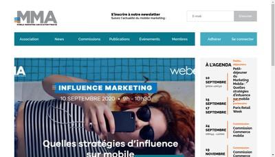 Site internet de Mobile Marketing France