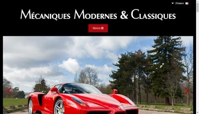 Site internet de Mecaniques Modernes et Classiques