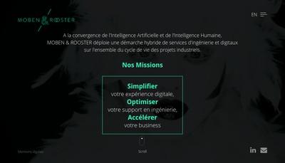 Site internet de Moben & Rooster