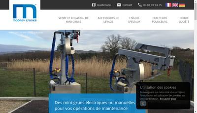Site internet de Mobilev Cranes