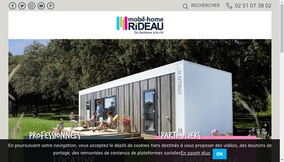 Site internet de Mobil-Home Rideau