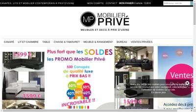 Site internet de Mobilier Prive