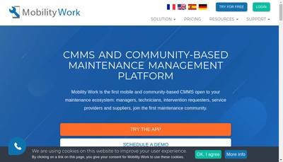 Site internet de Mobility Work