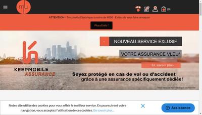 Site internet de Mobilityurban