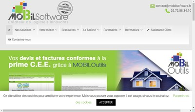 Site internet de Mobil Software