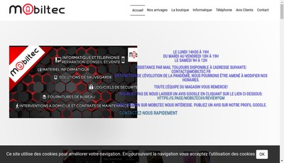 Site internet de Mobiltec