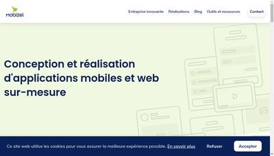 Site internet de Mobizel