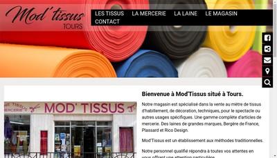 Site internet de Mod Tissus