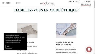 Site internet de Modames SAS