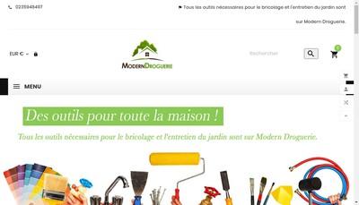 Site internet de Modern Droguerie