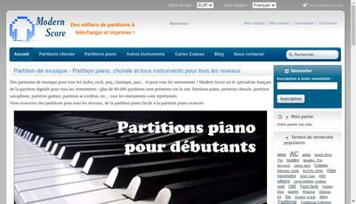 Site internet de Modern Score