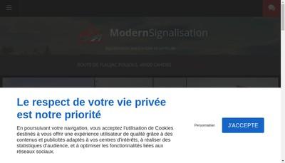 Site internet de Modern Signalisation