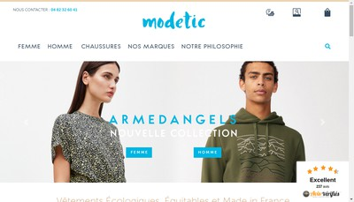 Site internet de 1083 et Modetic