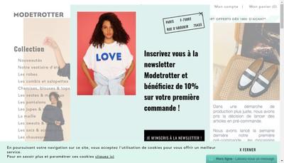 Site internet de Modetrotter