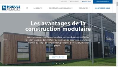 Site internet de Module Creation