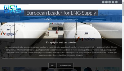 Site internet de Molgas Energia France