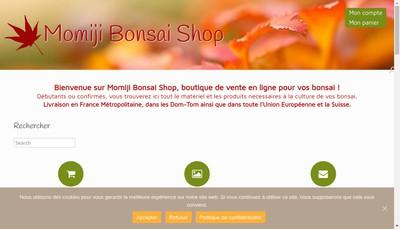 Site internet de Momiji Bonsai Shop