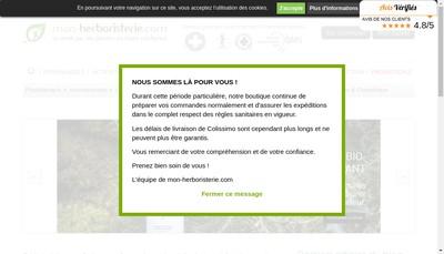 Site internet de Mon-Herboristerie Com
