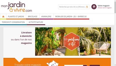Site internet de Les Jardins de la Ferme